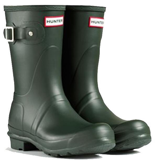 <特別価格!>HUNTER【ハンター】WOMENS ORIGINAL SHORT DARK OLIVEオリジナルショート・ダークオリーブレインブーツ ラバーブーツ 長靴