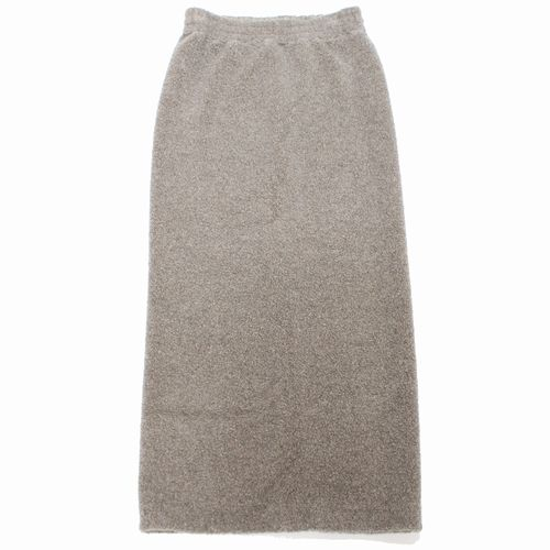 MM6 Maison Margiela 6 18AW Teddy black wool skirt スカート 【中古】
