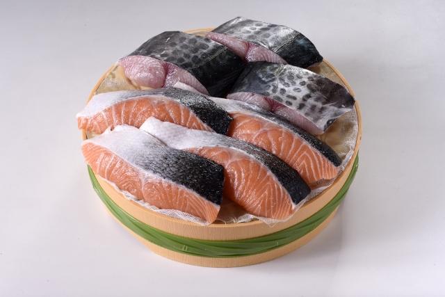 さわら・サーモン味噌漬(さわら3キレ・サーモン4キレ)