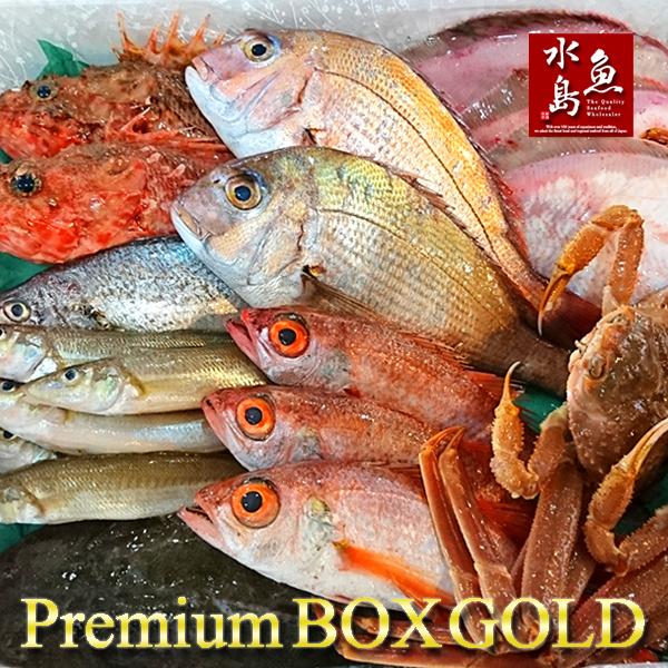 【送料無料】厳選 日本海の鮮魚セット「海におまかせ・大漁箱 プレミアムBOX ゴールド」 大満足詰め合わせ
