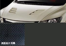 無限(MUGEN) カーボン エアロ ボンネット 未塗装シビック FD2タイプR用 【代引不可・離島発送不可】