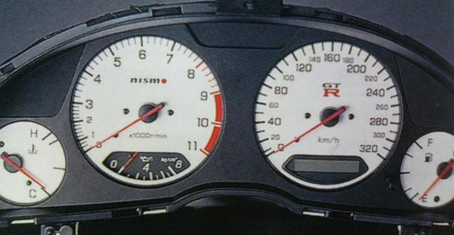 nismo(ニスモ) コンビネーションメーター ホワイト34GTーR(BNR34)用24810-RN45-WH