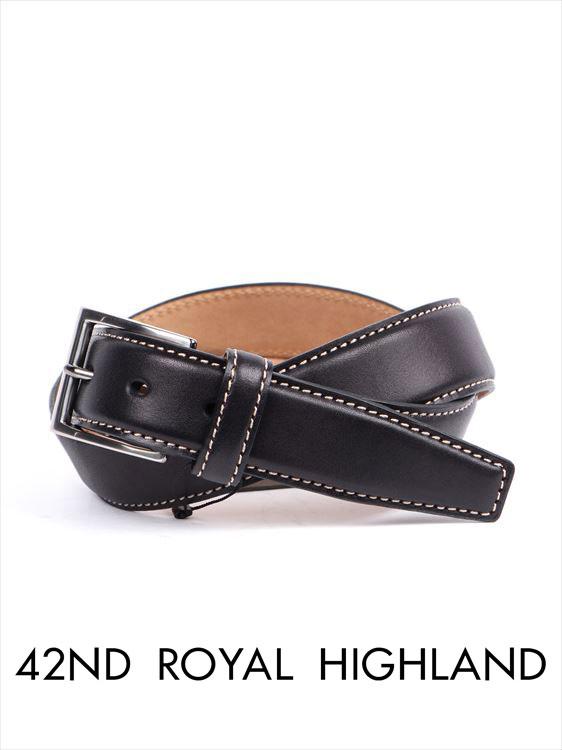 【国内正規品】 42nd ROYAL HIGHLAND フォーティーセカンドロイヤルハイランド カーフベルト ブラック KB04-01