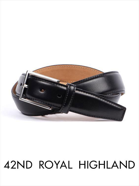 【国内正規品】 42nd ROYAL HIGHLAND フォーティーセカンドロイヤルハイランド カーフベルト カーフレザーベルト ブラック KB06F-01