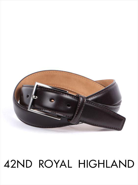 【国内正規品】 42nd ROYAL HIGHLAND フォーティーセカンドロイヤルハイランド カーフベルト カーフレザーベルト ダークブラウン KB06F-11