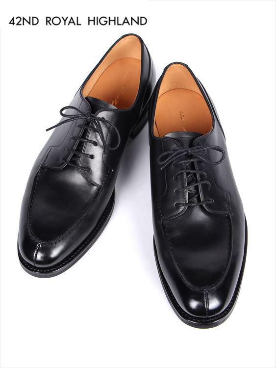 【海外限定】 【国内正規品】42ND ROYAL HIGHLAND フォーティーセカンドロイヤルハイランド Uチップ レザーシューズ ビジネスシューズ 5H 革靴 紳士靴 ブラック CH6401-01, PX-G FACTORY e40c98f8