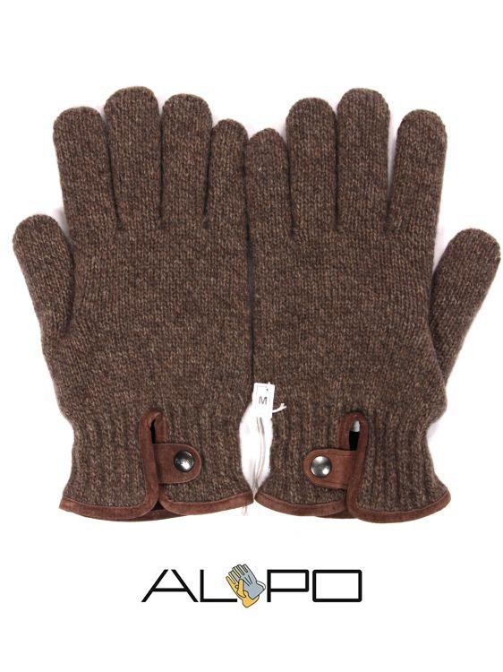 【10%OFFセール】【国内正規品】 ALPO アルポ ウールニットグローブ ブラウン 手袋 メンズ AP182UA SPW91 773