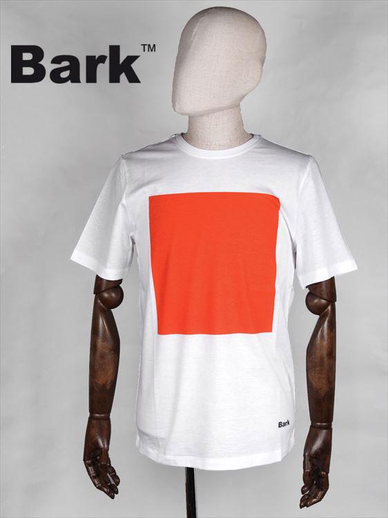 【30%OFFセール】【国内正規品】BARK バーク 半袖カットソー ホワイト Tシャツ 474-62641005 スクエアプリント 四角