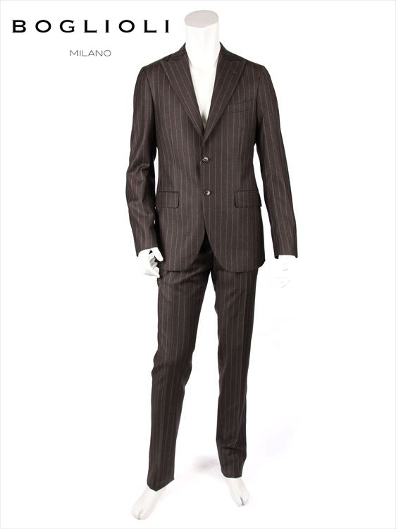 【国内正規品】BOGLIOLI ボリオリ セットアップ スーツ 2B チェック柄 ウール チャコール 220-22210 Y62A2A SFORZA