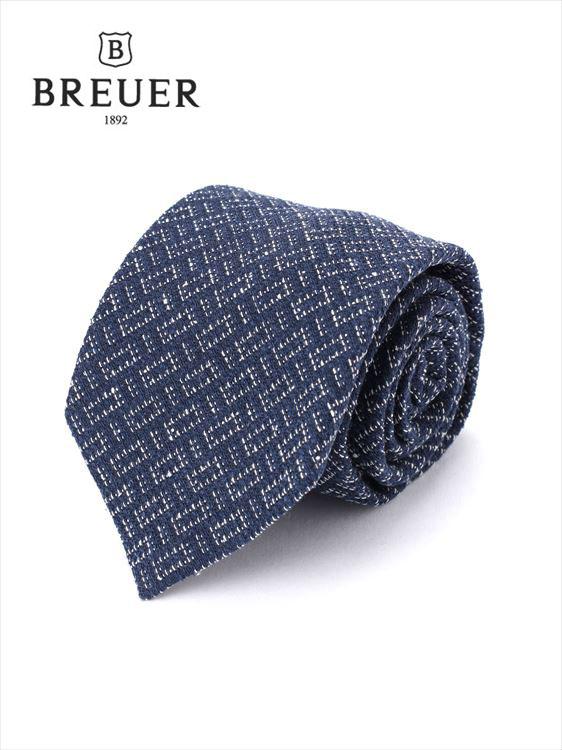 【国内正規品】 Breuer ブリューワー ネクタイ ネイビー 277-58059-040 イタリア製 シルク 総柄