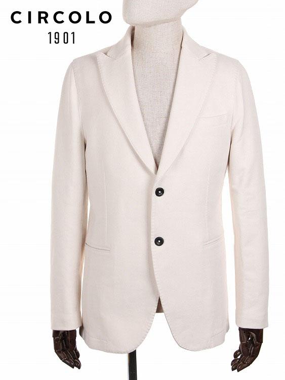 【20%OFFセール】【国内正規品】 CIRCOLO1901 2Bシングル テーラードジャケット ジャージー ホワイト 9CU201001