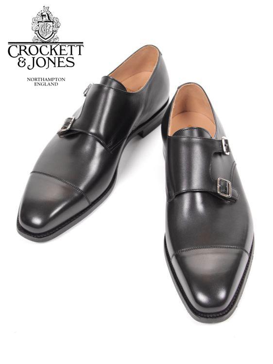 【国内正規品】 Crockett&Jones LOWNDES クロケット&ジョーンズ ダブルモンクストラップ レザーシューズ ブラック 革靴 紳士靴 ビジネスシューズ ロウンズ