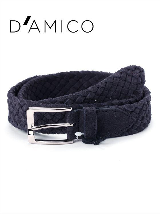【20%OFFセール】【国内正規品】Andrea D'AMICO アンドレアダミコ CAMOX K2 スエードメッシュベルト 539 ネイビー ACU2427 イタリア製 DAMICO