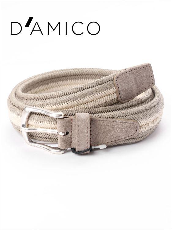 【国内正規品】Andrea D'AMICO アンドレアダミコ ELAS BAHIA 編み込みベルト 226 ホワイト×グレー / ACU2518 DAMICO