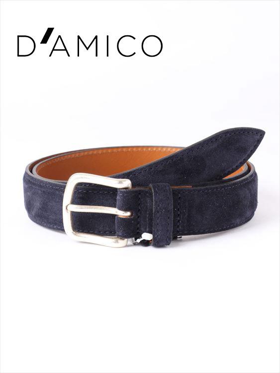 【20%OFFセール】【国内正規品】Andrea D'AMICO アンドレアダミコ CAMOX KALEIDO スエードベルト 539 ネイビー / ACUB003 DAMICO