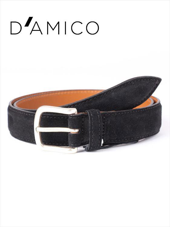 【国内正規品】Andrea D'AMICO アンドレアダミコ CAMOX KALEIDO スエードベルト 999 ブラック / ACUB003