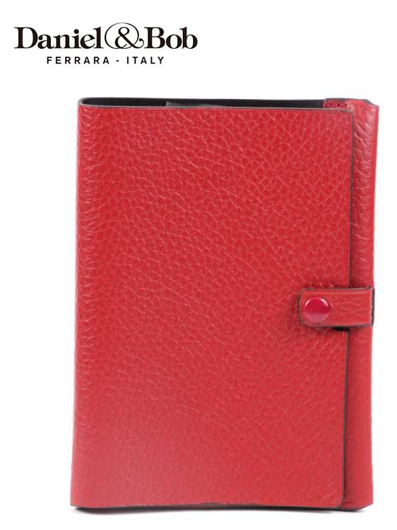 【国内正規品】Daniel&Bob ダニエルアンドボブ パスポートケース シボ革 シュリンクレザー GFT097-22-192 RED レッド