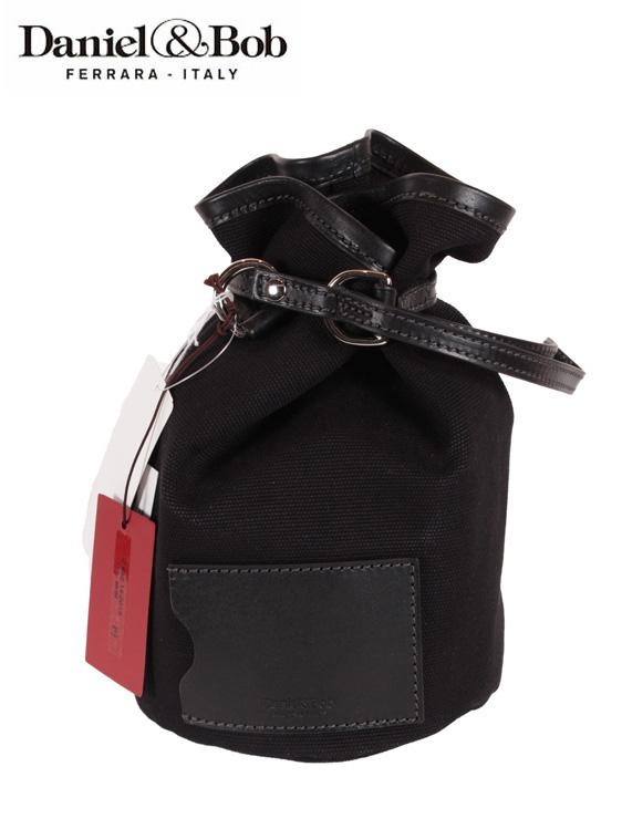 【国内正規品】 Daniel&Bob ダニエルアンドボブ バケットバッグ 巾着型バッグ キャンバス生地 U482.14 ブラック