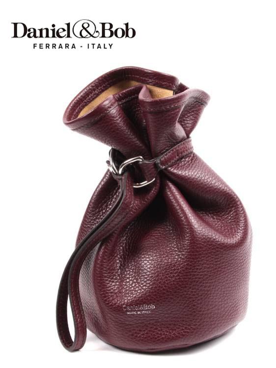 【国内正規品】Daniel&Bob ダニエルアンドボブ KINCHABOB 巾着型バッグ U482-23-192 WINE RED ワインレッド