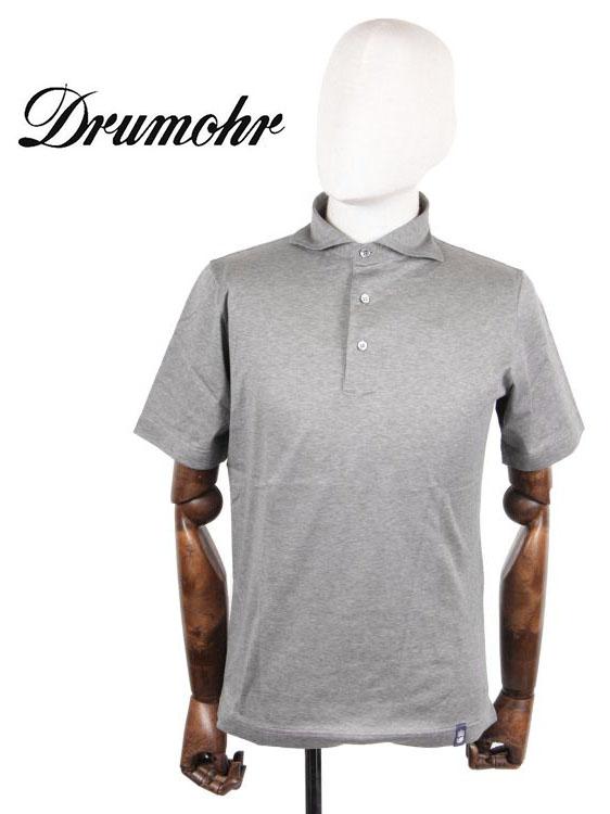【10%OFFセール】【国内正規品】 Drumohr ドルモア マーライズコットン 半袖 ポロシャツ YTM202 グレー