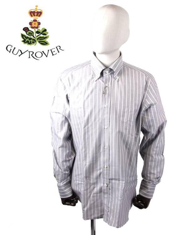 【国内正規品】GUY ROVER ギローバー ストライプ ボタンダウンシャツ C1930-592214 LIGHT GRAY ライトグレー