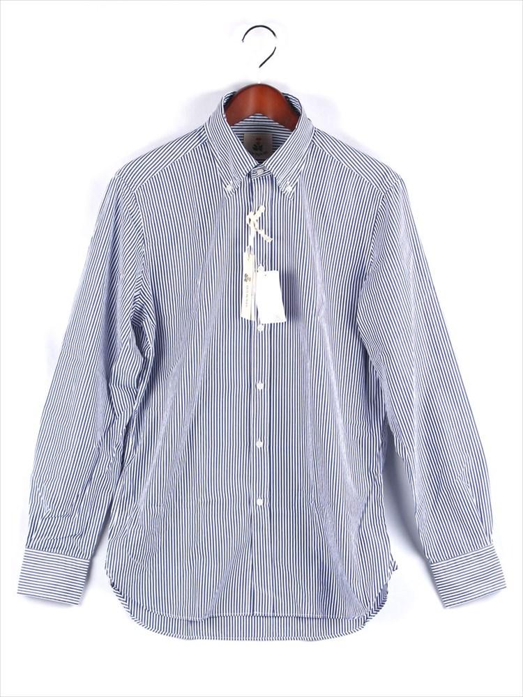 【国内正規品】GUYROVER ギローバー ストライプボタンダウンシャツ ネイビー C1940L-572906
