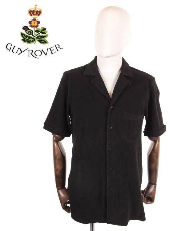 【国内正規品】 GUY ROVER ギローバー ポロシャツ パイル 無地 シンプル pc359-501505-04 黒 ブラック