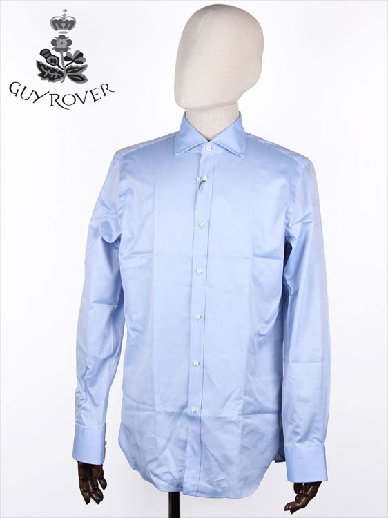 【国内正規品】GUYROVER ギローバー カッタウェイシャツ ブルー 581903 イタリア製 ホリゾンタル