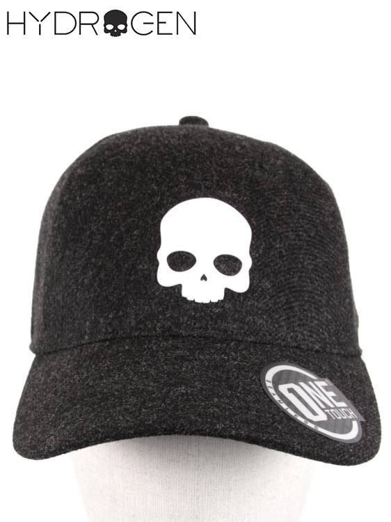 【国内正規品】19-20AW HYDROGEN ハイドロゲン キャップ ロゴ バッジ バッチ 帽子 ONE TACH SKULL CAP 210-14089003-150 BLACK ブラック