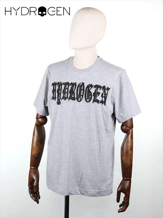【30%OFFセール】【国内正規品】 HYDROGEN ハイドロゲン HERALDIC Tシャツ カットソー グレー 210-63241003 メンズ ロゴ刺繍