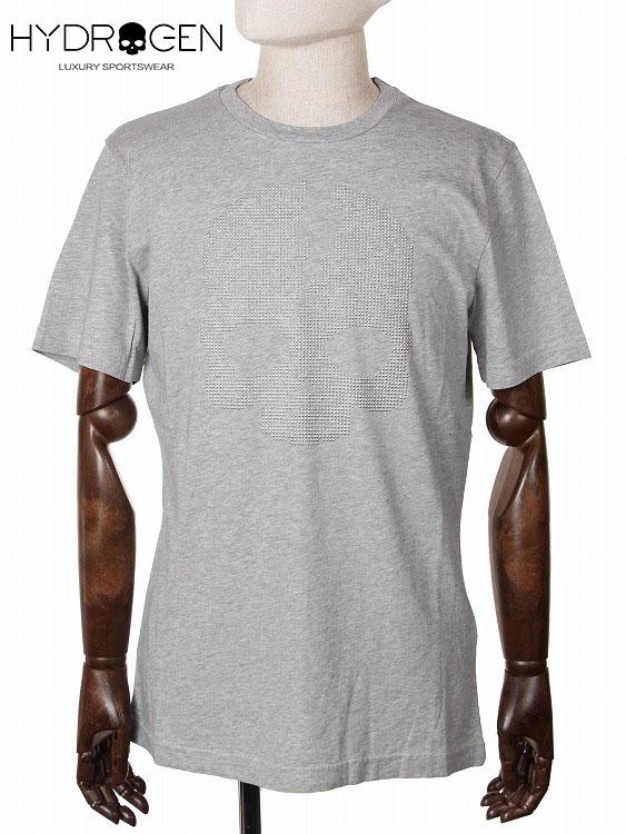 【国内正規品】 HYDROGEN ハイドロゲン スカル スタッズ Tシャツ カットソー グレー 210-72441001 半袖