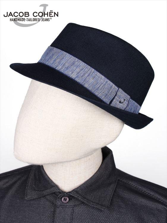 【国内正規品】JACOB COHEN ヤコブコーエン チロリアンハット 中折れ帽 ネイビー 226-58802