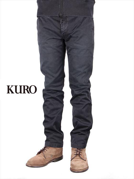 【国内正規品】KURO クロ サルファーウォッシュド ウエストポイント チノパンツ ブラック Sulfur dye Washed WestPoint Chino Pants 960324