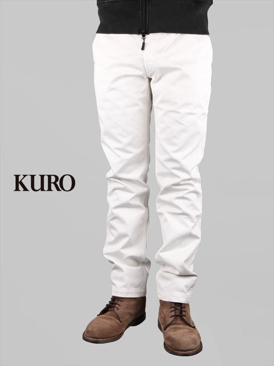 【20%OFFセール】【国内正規品】KURO クロ サルファーウォッシュド オフホワイトポイント チノパンツ オフホワイト Sulfur dye Washed WestPoint Chino Pants 960789
