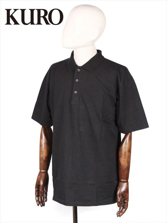 【国内正規品】KURO クロ SEERSUCKER POLO SHITS シアサッカー ポロシャツ ブラック 962065 コットン