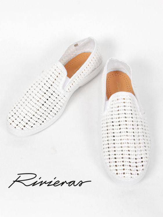 【国内正規品】Rivieras リヴィエラ NICE MATIN BLANC ナイスマーティンブラン メッシュ スリッポン RI191UA3170 ホワイト
