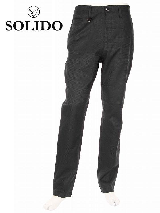 【国内正規品】SOLIDO ソリード CUOIO ジャガードパンツ スラックス MSL19A5459 ブラック ノータック