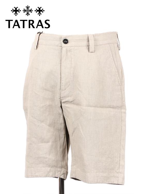 【国内正規品】 TATRAS タトラス Frassinoリネン ショートパンツ ハーフパンツ ベージュ MTA18S550