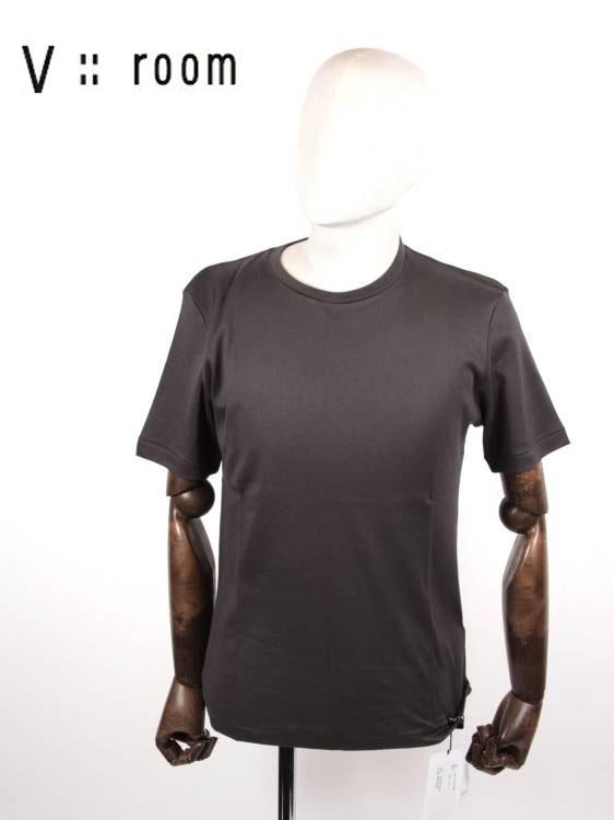 【国内正規品】V::room ヴイルーム クルーネック 半袖Tシャツ シンプル MVB20A8000 C.GRAY チャコールグレー