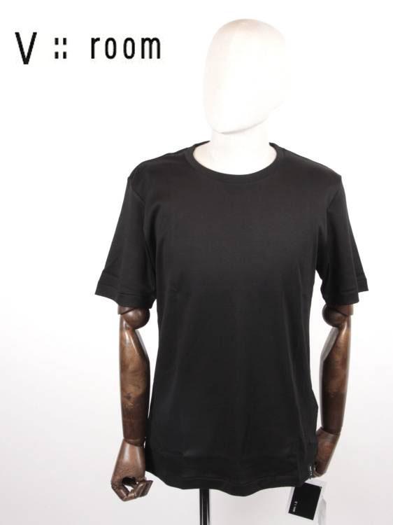 【国内正規品】V::room ヴイルーム クルーネック半袖Tカットソー シンプル MVB20S8000 BLACK ブラック