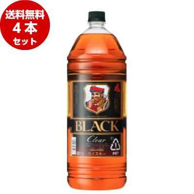 ブラックニッカ クリア 4Lペットボトル×4本