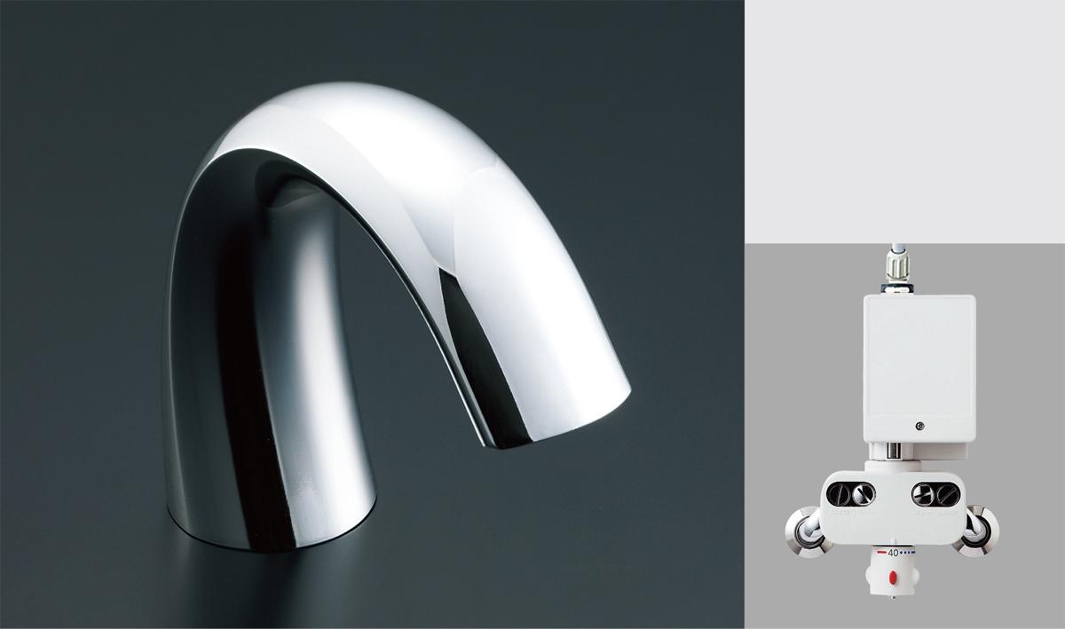 LIXIL リクシル 【AM-140TC】 シリーズ名: オートマージュG 品名: サーモスタット付自動水栓(ワイド泡沫式)[新品]