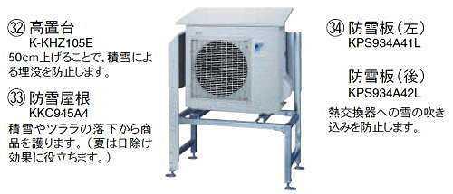 ダイキン エコキュート関連部材 防雪板 【KPS934A42L】[新品]