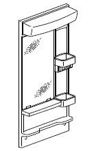 INAX・LIXIL 洗面化粧台部材 【MFK-501S】(間口500mm) ミラーキャビネット 照明:LED照明/タイプ:1面鏡 全高1,850mm用 くもり止めコートなし オフト[oft] 【メーカー直送のみ・代引き不可・NP後払い不可】