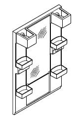 INAX・LIXIL 洗面化粧台部材 【MFTX1-601YFJ】(間口600mm) ミラーキャビネット 照明:LED照明/タイプ:1面鏡・ショートミラー 全高1,780mm用 くもり止めコートなし オフト[oft] 【メーカー直送のみ・代引き不可・NP後払い不可】