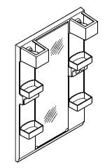 INAX・LIXIL 洗面化粧台部材 【MFTX1-601XPJ】(間口600mm) ミラーキャビネット 照明:LED照明/タイプ:1面鏡・ロングミラー 全高1,850mm用 くもり止めコートなし オフト[oft] 【メーカー直送のみ・代引き不可・NP後払い不可】