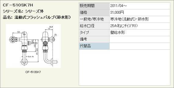 【即納&大特価】 INAX LIXIL・リクシル INAX トイレ 流動式節水形フラッシュバルブ(寒冷地用) 洗浄水量10-15L用【CF-510SK7H】 トイレ【CF-510SK7H】 壁給水形フラッシュバルブ(バキュームブレーカー付)[新品], キモベツチョウ:e54b35e5 --- portalitab2.dominiotemporario.com