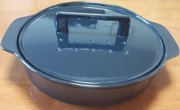ノーリツ 純国産南部鉄器 ホーロー鍋 ダークブルー (LP0122DB) 【HM】 【0705580】 ハーマン>調理器具・お手入れ品 [新品]