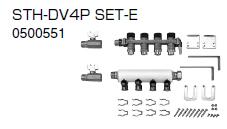 ノーリツ 温水暖房システム 部材 端末器 関連部材 ヘッダー関連 STH-DV4P SET-E【0500551】[新品]