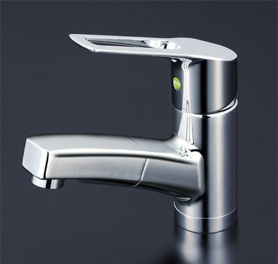 KVK 洗面用シングルレバー式混合栓(eレバー) 【KM8001TEC】[新品]【NP後払いOK】